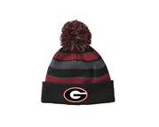 Pom Hat Black and Red