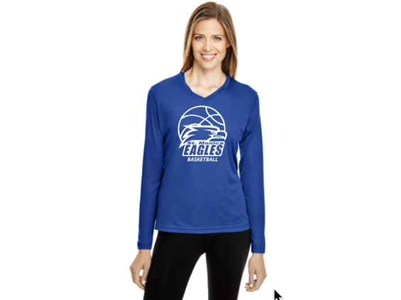 ST MONICA BASKETBALL LADIES PERF. TEE
