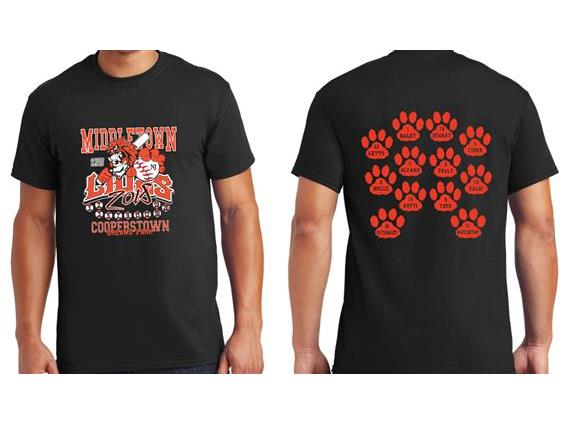 Cooperstown Shirts with PAWS