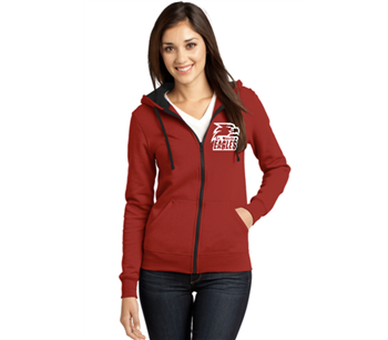 Ladies Cut Full Zip Fleece Hoodie