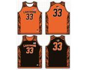 Lakewood Tigers Reversible Game Jersey & Black Game Shorts