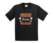Eagles Personalized GLITTER Cheer Shirt