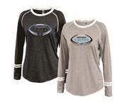 Mahwah Jr Football Ladies Ringer Longsleeve