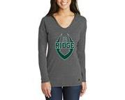 Ridge Youth Football Ladies Hooded L/S V-Neck