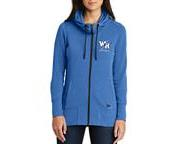 Streaks Baseball Ladies Tri-Blend Full Zip Hoodie