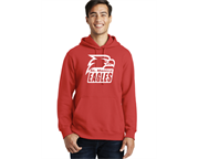 Fleece hoodie with full front chest or back logo