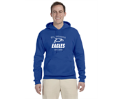 Fleece Hoodie with Full Front Chest Logo
