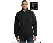 FLEECE 1/4 ZIP WITH UPPER LEFT CHEST LOGO