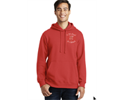 Fleece Hoodie with upper left chest logo