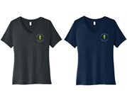 Chamber Ladies V-Neck Tee - Left Chest Logo Only