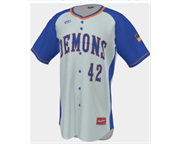 LW Blue Demons Full Button Jersey