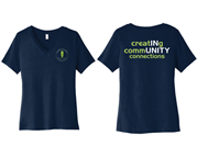 Chamber Ladies V-Neck Tee - Left Chest Logo w/ Creating Community Connections back