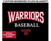 SP Warriors Custom Plush Blanket